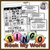 Rock My World Earth Science Bingo - Rocks and Minerals