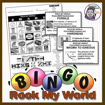 Rock My World Earth Science Bingo - Rocks and Minerals