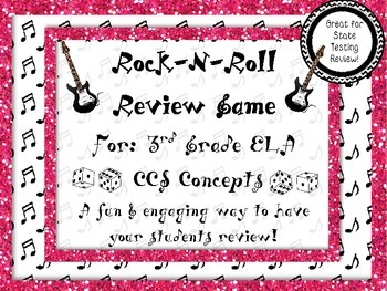 Rock-N-Roll 3rd Grade ELA End of Year Review (Great for State Testing!)