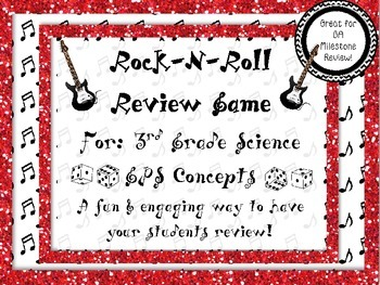 Rock-N-Roll 3rd Grade GPS Science Review for GA Milestone! *50% off*