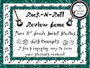 Rock-N-Roll 3rd Grade GPS Social Studies Review for GA Milestone!