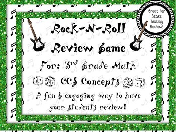 Rock-N-Roll 3rd Grade Math End of Year Review (Great for S