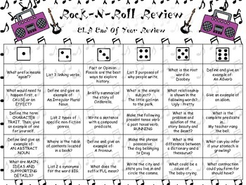 Rock-N-Roll 3rd Grade Review Game Bundle Pack for GA Milestones