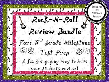 Rock-N-Roll 3rd Grade Review Game Bundle Pack for GA Miles