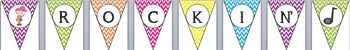 Rock 'N' Roll Rockstar {Chevron} Behavior Clip Chart and Bunting Banner