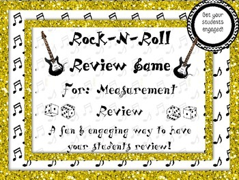 Rock-N-Roll Measurement Review Game *ENGAGING REVIEW GAME* 50% off!