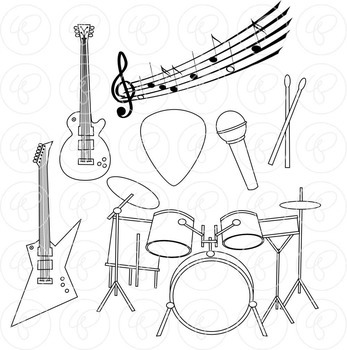 Rock N Roll Music Clipart by Poppydreamz
