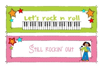 Rock-N-Roll Themed Behavior Chart