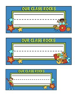 Rock-N-Roll Themed Nameplates