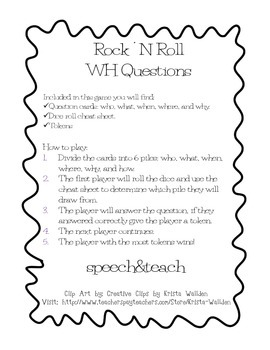 Rock N Roll WH Questions