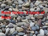Rock Notes- Three Types of Rock (Igneous, Sedimentary, Metamorphic)