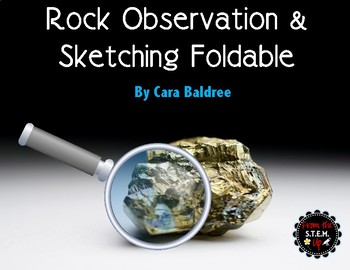Rock Observations and Sketches Foldable Note