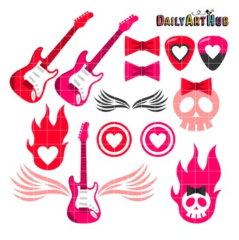 Rock On Clip Art - Great for Art Class Projects!