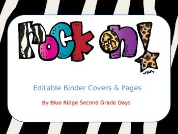 Rock On Editable Binder Covers and Papers