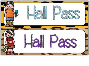 Rock On Editable Hall Passes