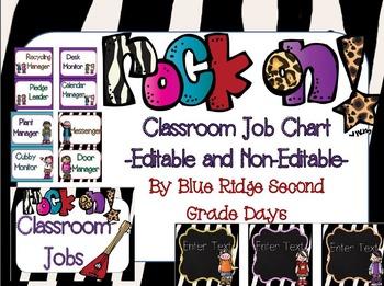 Rock On Editable Job Chart