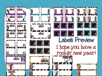 Rock On Editable Labels