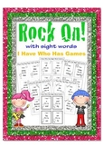 Rock On I Have Who Has Sight Word Games B&W Rockstar theme 10 games (K-3)
