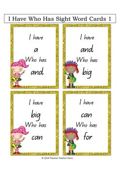 Rock On I Have Who Has Sight Word Games Colour Rockstar theme 10 games (K-3)