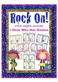 Rock On I Have Who Has Sight Word Games Colour Rockstar th