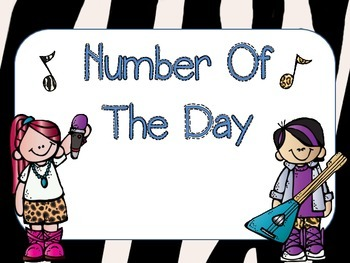 Rock On Number of The Day and Alphabet Header Cards