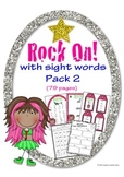 Rock On Sight Words Display Poster and Word Work Pack 2 Grades K-1