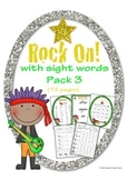 Rock On Sight Words Display Poster and Word Work Pack 3 Grades 1-2