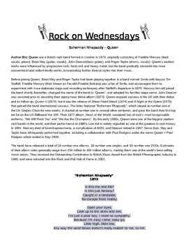 Rock On Wednesdays Poetry Analysis - Bohemian Rhapsody by Queen