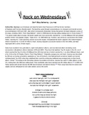 Rock On Wednesdays Poetry Analysis - Don't Stop Believin'