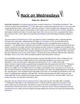 Rock On Wednesdays Poetry Analysis - Dream On by Aerosmith