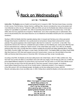 Rock On Wednesdays Poetry Analysis - Let It Be by the Beatles