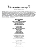 Rock On Wednesdays Poetry Analysis - More Than a Feeling b