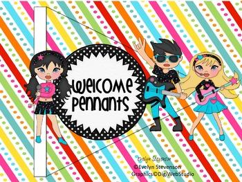 Rock On Welcome Pennants