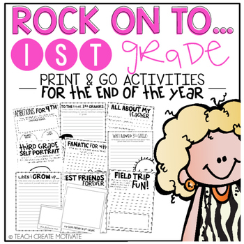 Rock On to 1st Grade! {Print&Go Activities for the End of