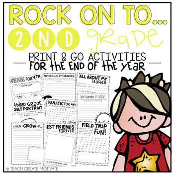Rock On to 2nd Grade! {Print&Go Activities for the End of