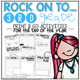 Rock On to 3rd Grade! {Print&Go Activities for the End of