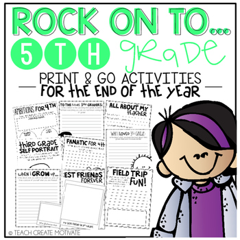 Rock On to 5th Grade! {Print&Go Activities for the End of the Year}