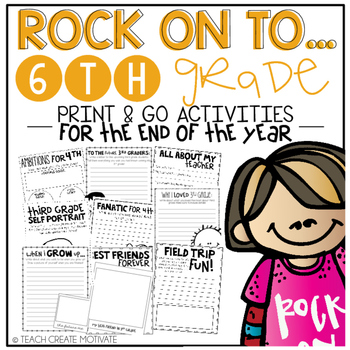 Rock On to 6th Grade! {Print&Go Activities for the End of the Year}