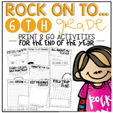 Rock On to 6th Grade! {Print&Go Activities for the End of