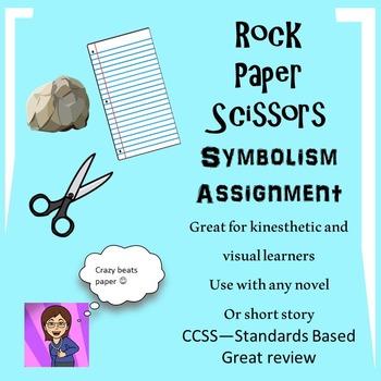 Symbolism Lesson for Any Novel or Short Story:Rock, Paper, Scissors