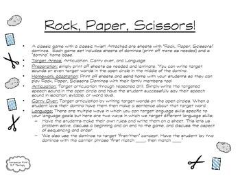 Rock, Paper, Scissors Dominos