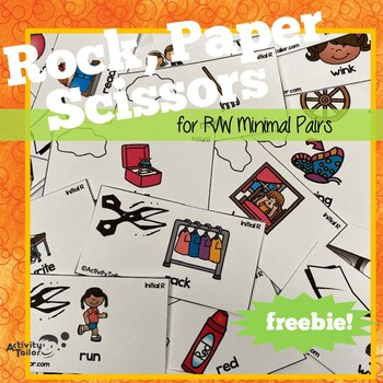 Rock Paper Scissor FREEBIE for Minimal Pair R/W