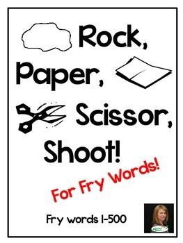 Rock, Paper, Scissor for Fry Words!