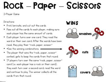 Rock, Paper, Scissors- A CVC Word Game