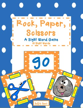 Rock, Paper, Scissors  A Sight Word Game    81 Sight Words