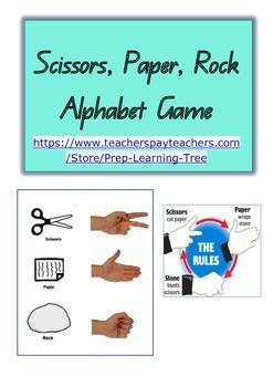 Rock Paper Scissors Alphabet Game in Queensland Font