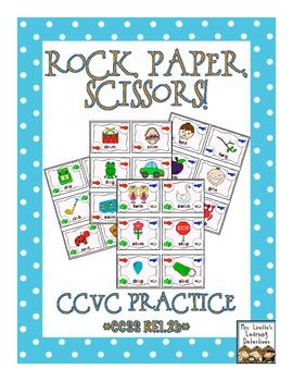 Rock, Paper, Scissors: CCVC Words {Initial Blends}