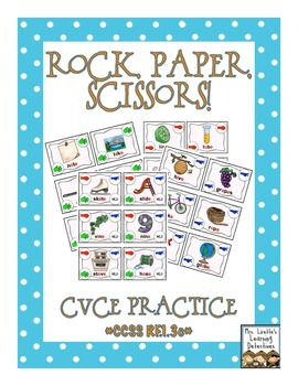 Rock, Paper, Scissors: CVCe Words {Magic Silent E}