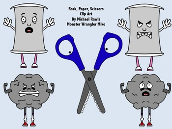 Rock Paper Scissors Clip Art