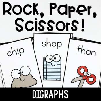 Rock, Paper, Scissors- Digraphs Word Game
